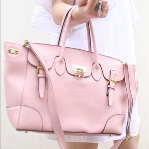 Segolene En Cuir Handbag in Blush